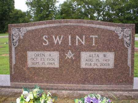 SWINT  (VETERAN WWII), OREN A. - Logan County, Arkansas | OREN A. SWINT  (VETERAN WWII) - Arkansas Gravestone Photos