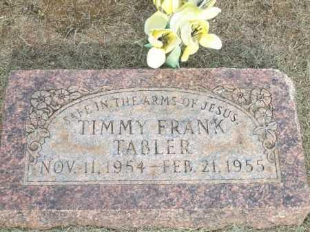 TABLER, TIMMY FRANK - Logan County, Arkansas | TIMMY FRANK TABLER - Arkansas Gravestone Photos