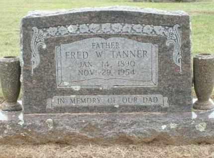 TANNER, FRED W. - Logan County, Arkansas | FRED W. TANNER - Arkansas Gravestone Photos