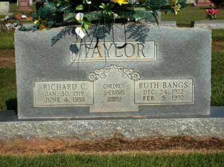TAYLOR, RUTH BANGS - Logan County, Arkansas | RUTH BANGS TAYLOR - Arkansas Gravestone Photos