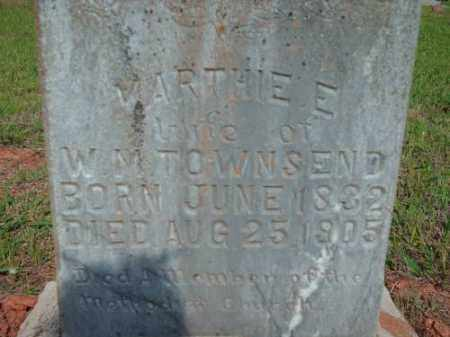 TOWNSEND, MARTHIE E. - Logan County, Arkansas | MARTHIE E. TOWNSEND - Arkansas Gravestone Photos