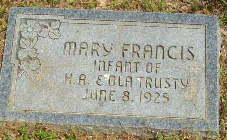 TRUSTY, MARY FRANCIS - Logan County, Arkansas | MARY FRANCIS TRUSTY - Arkansas Gravestone Photos