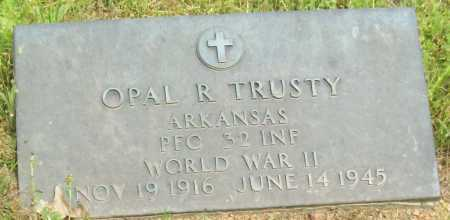 TRUSTY (VETERAN WWII), OPAL R - Logan County, Arkansas   OPAL R TRUSTY (VETERAN WWII) - Arkansas Gravestone Photos