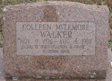 MCLEMORE WALKER, COLLEEN - Logan County, Arkansas   COLLEEN MCLEMORE WALKER - Arkansas Gravestone Photos