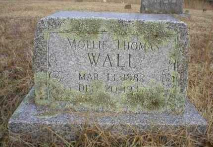 THOMAS WALL, MOLLIE - Logan County, Arkansas | MOLLIE THOMAS WALL - Arkansas Gravestone Photos