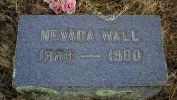 WALL, NEVADA - Logan County, Arkansas | NEVADA WALL - Arkansas Gravestone Photos