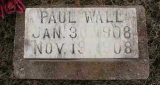 WALL, PAUL - Logan County, Arkansas | PAUL WALL - Arkansas Gravestone Photos