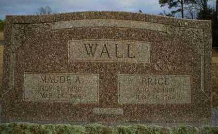 WALL, PRICE - Logan County, Arkansas | PRICE WALL - Arkansas Gravestone Photos