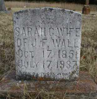 WALL, SARAH C - Logan County, Arkansas | SARAH C WALL - Arkansas Gravestone Photos