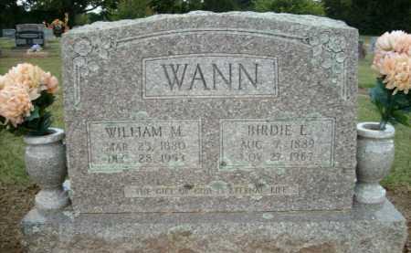 WANN, WILLIAM M. - Logan County, Arkansas | WILLIAM M. WANN - Arkansas Gravestone Photos