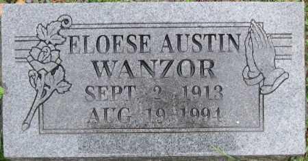 RANDOLPH WANZOR, ELOESE AUSTIN - Logan County, Arkansas   ELOESE AUSTIN RANDOLPH WANZOR - Arkansas Gravestone Photos