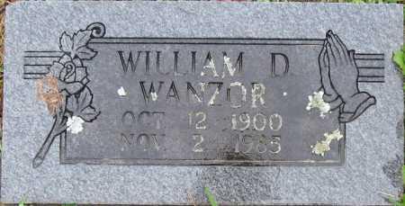 WANZOR, WILLIAM D. - Logan County, Arkansas   WILLIAM D. WANZOR - Arkansas Gravestone Photos