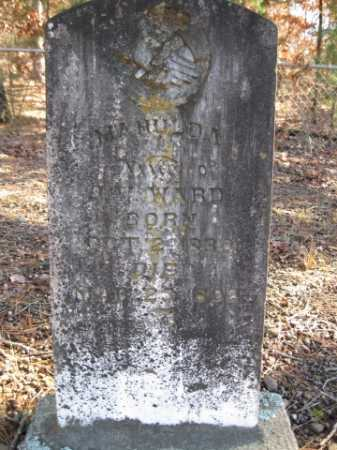 WARD, MAHULDA - Logan County, Arkansas | MAHULDA WARD - Arkansas Gravestone Photos
