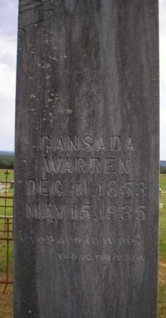 WARREN, CANSADA - Logan County, Arkansas   CANSADA WARREN - Arkansas Gravestone Photos