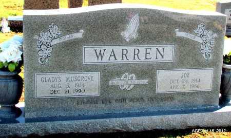 WARREN, JOE - Logan County, Arkansas | JOE WARREN - Arkansas Gravestone Photos