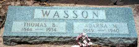 WASSON, ADARNA - Logan County, Arkansas | ADARNA WASSON - Arkansas Gravestone Photos