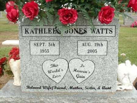 WATTS, KATHLEEN JONES - Logan County, Arkansas   KATHLEEN JONES WATTS - Arkansas Gravestone Photos