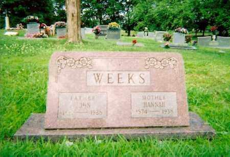 WEEKS, HANNAH - Logan County, Arkansas | HANNAH WEEKS - Arkansas Gravestone Photos