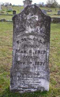 WELLS, F  M - Logan County, Arkansas | F  M WELLS - Arkansas Gravestone Photos