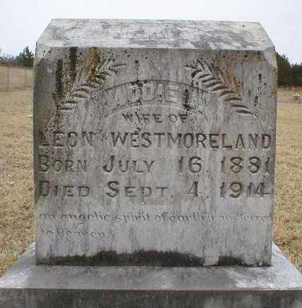 WESTMORELAND, ADDIE - Logan County, Arkansas | ADDIE WESTMORELAND - Arkansas Gravestone Photos