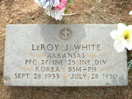 WHITE (VETERAN KOR, KIA), LEROY J - Logan County, Arkansas | LEROY J WHITE (VETERAN KOR, KIA) - Arkansas Gravestone Photos