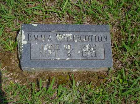 WHITECOTTON, EMMA - Logan County, Arkansas | EMMA WHITECOTTON - Arkansas Gravestone Photos