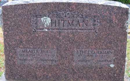 WHITMAN, ETHEL - Logan County, Arkansas | ETHEL WHITMAN - Arkansas Gravestone Photos
