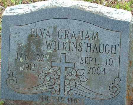 WILKINS' HAUGH', ELVA - Logan County, Arkansas | ELVA WILKINS' HAUGH' - Arkansas Gravestone Photos