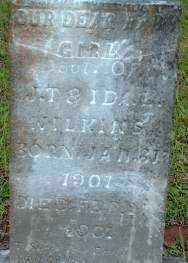 WILKINS, INFANT DAUGHTER - Logan County, Arkansas | INFANT DAUGHTER WILKINS - Arkansas Gravestone Photos