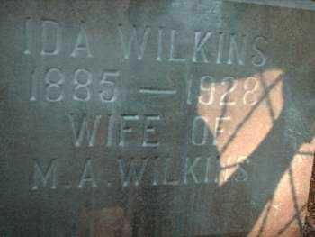 WILKINS, IDA LENORA - Logan County, Arkansas | IDA LENORA WILKINS - Arkansas Gravestone Photos