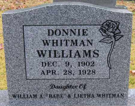 WHITMAN WILLIAMS, DONNIE - Logan County, Arkansas | DONNIE WHITMAN WILLIAMS - Arkansas Gravestone Photos