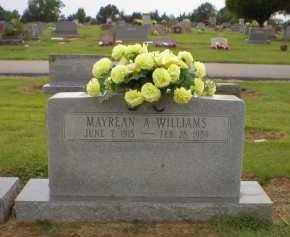 WILLIAMS, MAYREAN A - Logan County, Arkansas | MAYREAN A WILLIAMS - Arkansas Gravestone Photos