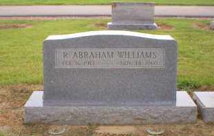 WILLIAMS (VETERAN WWII), R  ABRAHAM - Logan County, Arkansas | R  ABRAHAM WILLIAMS (VETERAN WWII) - Arkansas Gravestone Photos