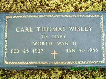 WISLEY (VETERAN WWII), CARL THOMAS - Logan County, Arkansas | CARL THOMAS WISLEY (VETERAN WWII) - Arkansas Gravestone Photos