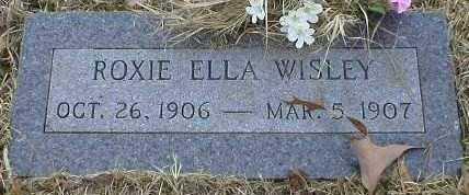 WISLEY, ROXIE ELLA - Logan County, Arkansas   ROXIE ELLA WISLEY - Arkansas Gravestone Photos