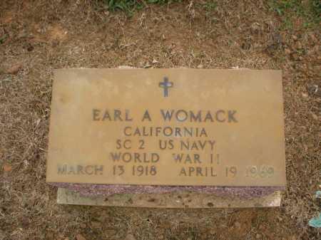 WOMACK  (VETERAN WWII), EARL A. - Logan County, Arkansas | EARL A. WOMACK  (VETERAN WWII) - Arkansas Gravestone Photos