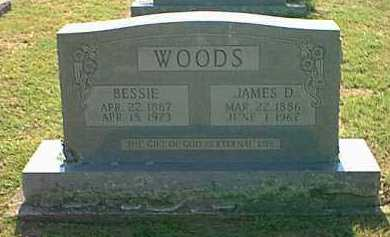 WOODS, BESSIE - Logan County, Arkansas | BESSIE WOODS - Arkansas Gravestone Photos