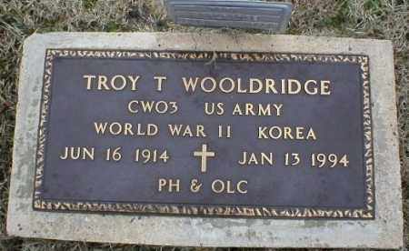 WOOLDRIDGE (VETERAN 2 WARS), TROY T - Logan County, Arkansas   TROY T WOOLDRIDGE (VETERAN 2 WARS) - Arkansas Gravestone Photos