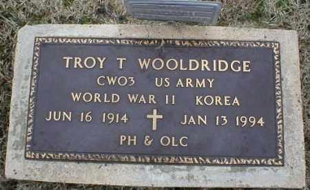WOOLDRIDGE (VETERAN 2 WARS), TROY T - Logan County, Arkansas | TROY T WOOLDRIDGE (VETERAN 2 WARS) - Arkansas Gravestone Photos