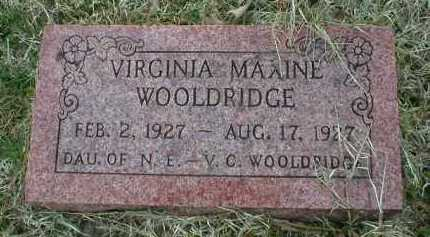 WOOLDRIDGE, VIRGINIA MAXINE - Logan County, Arkansas | VIRGINIA MAXINE WOOLDRIDGE - Arkansas Gravestone Photos