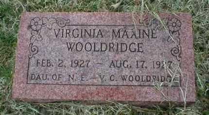 WOOLDRIDGE, VIRGINIA MAXINE - Logan County, Arkansas   VIRGINIA MAXINE WOOLDRIDGE - Arkansas Gravestone Photos