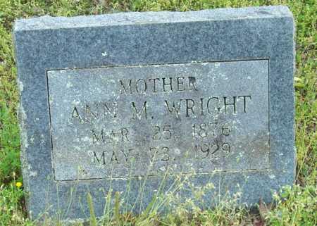 WRIGHT, ANN M. - Logan County, Arkansas | ANN M. WRIGHT - Arkansas Gravestone Photos