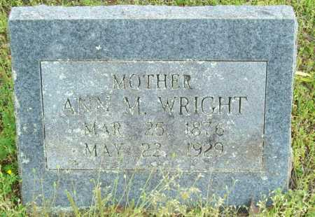 WRIGHT, ANN M. - Logan County, Arkansas   ANN M. WRIGHT - Arkansas Gravestone Photos