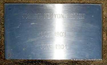 WRIGHT, JOHNNY NEWTON - Logan County, Arkansas | JOHNNY NEWTON WRIGHT - Arkansas Gravestone Photos