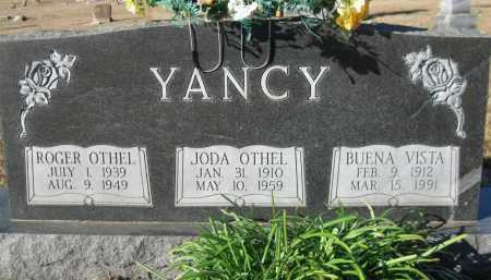 YANCY, JODA OTHEL - Logan County, Arkansas | JODA OTHEL YANCY - Arkansas Gravestone Photos