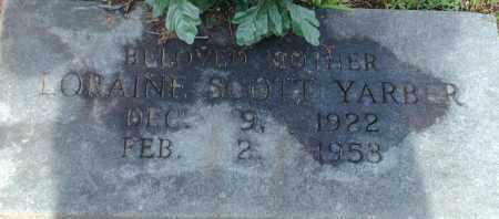 YARBER, LORAINE ( LORENE) - Logan County, Arkansas | LORAINE ( LORENE) YARBER - Arkansas Gravestone Photos