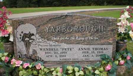 "YARBOROUGH   (VETERAN KOR), WENDELL ""PETE"" - Logan County, Arkansas 