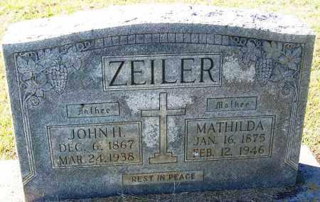 ZEILER, JOHN H - Logan County, Arkansas   JOHN H ZEILER - Arkansas Gravestone Photos