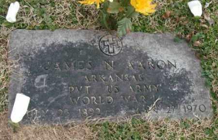 AARON (VETERAN WWI), JAMES N - Lonoke County, Arkansas | JAMES N AARON (VETERAN WWI) - Arkansas Gravestone Photos