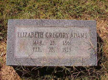 GREGORY ADAMS, ELIZABETH - Lonoke County, Arkansas | ELIZABETH GREGORY ADAMS - Arkansas Gravestone Photos